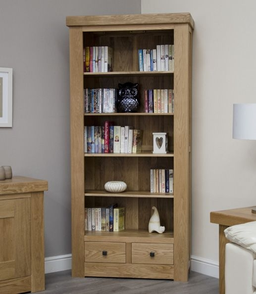 Homestyle GB Bordeaux Oak Bookcase with Drawer - Large
