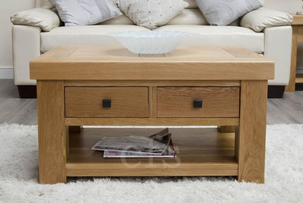 Homestyle GB Bordeaux Oak Coffee Table with Drawers