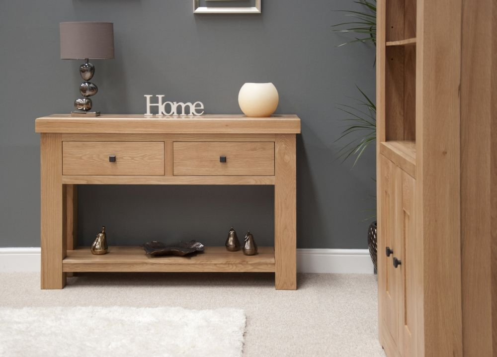 Buy Homestyle Gb Bordeaux Oak Console Table Online Cfs Uk