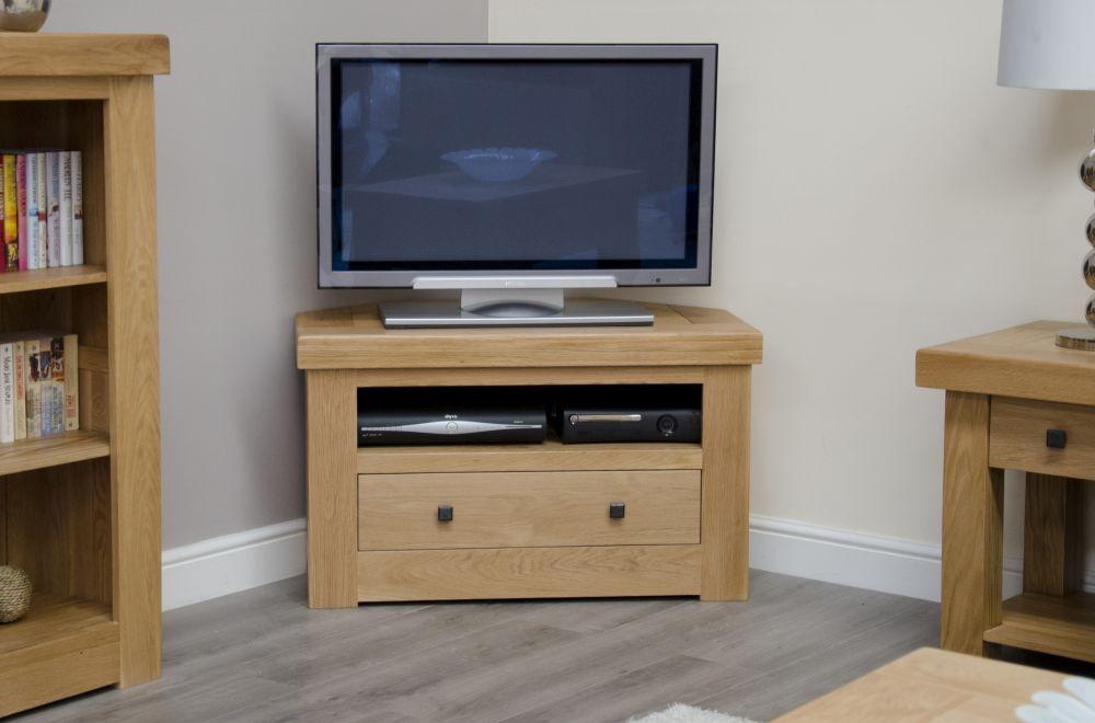 Homestyle GB Bordeaux Oak Corner TV Cabinet - 1 Drawer