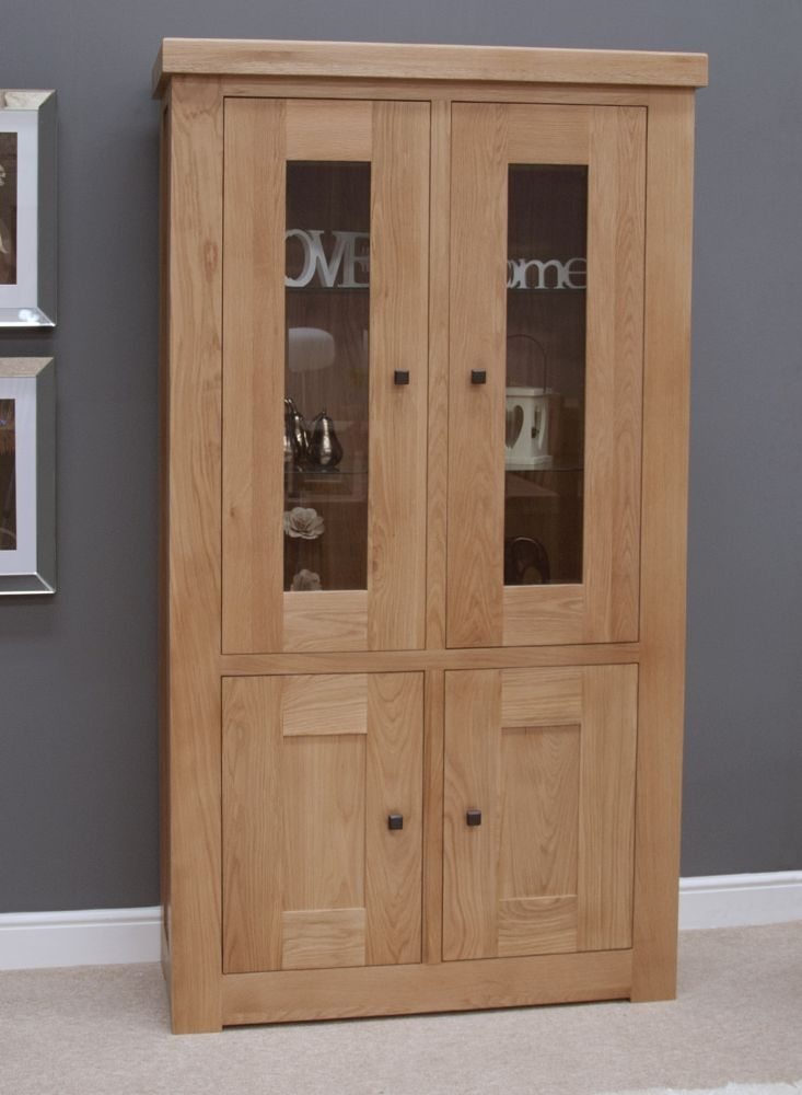 Homestyle GB Bordeaux Oak Glazed Display Cabinet