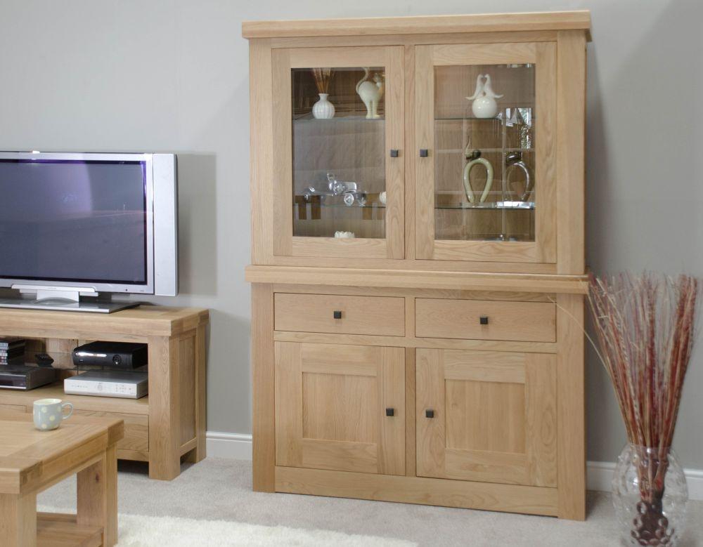 Homestyle GB Bordeaux Oak 4 Door 2 Drawer Large Display Unit