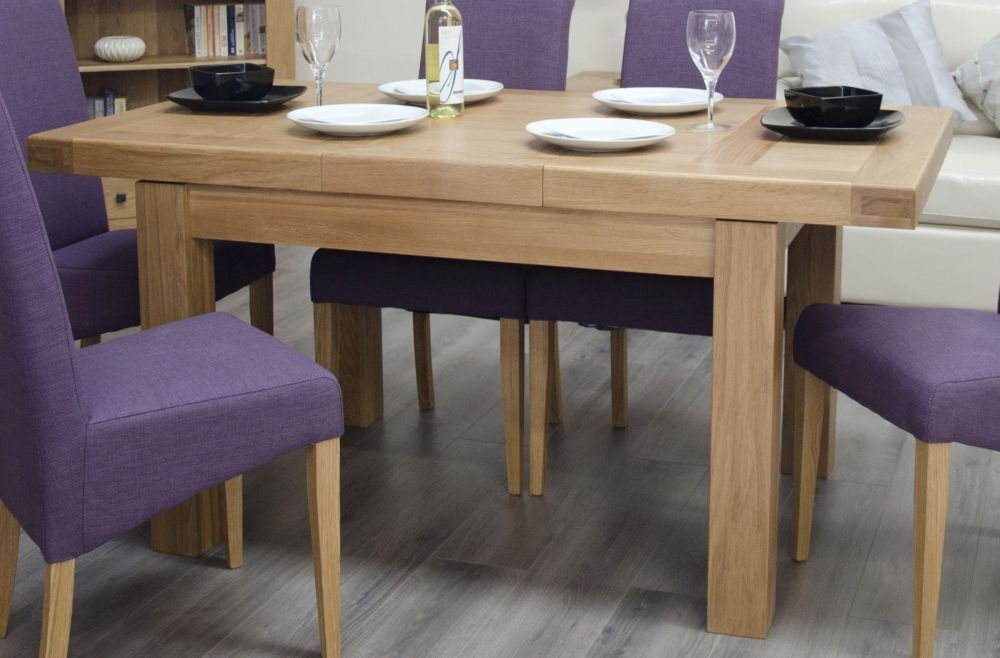 Homestyle GB Bordeaux Oak Small Extending Dining Table