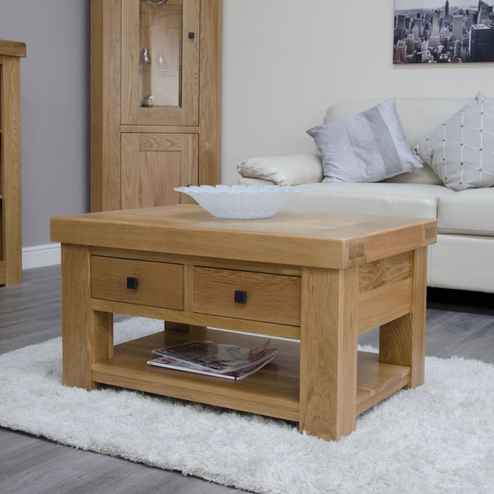 Homestyle GB Bordeaux Oak 2 Drawer Storage Coffee Table