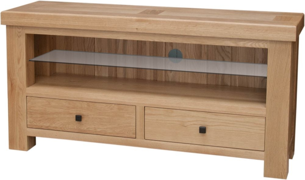 Homestyle GB Bordeaux Oak TV Unit - 2 Drawer