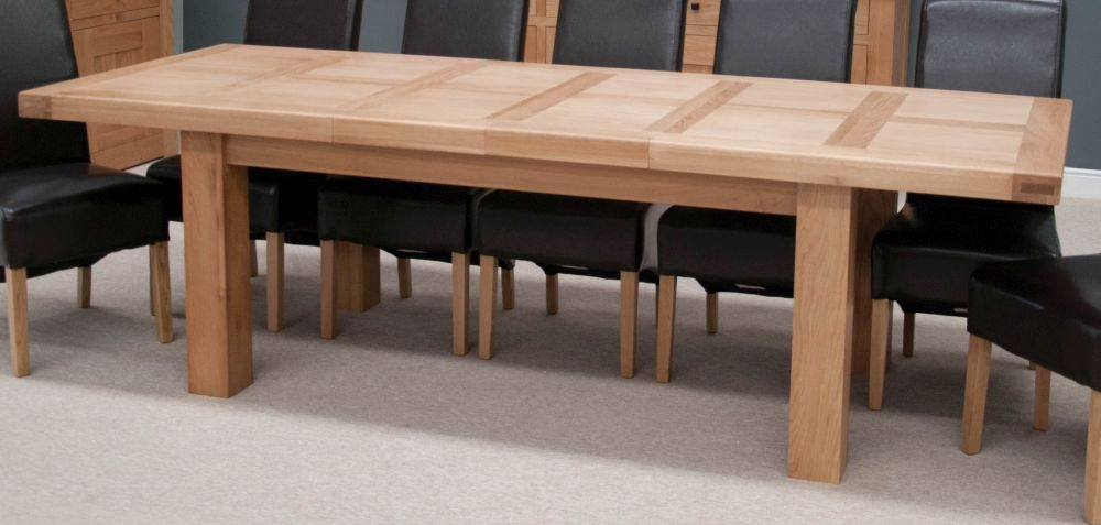 Homestyle GB Bordeaux Oak Twin Panel Large Extending Dining Table