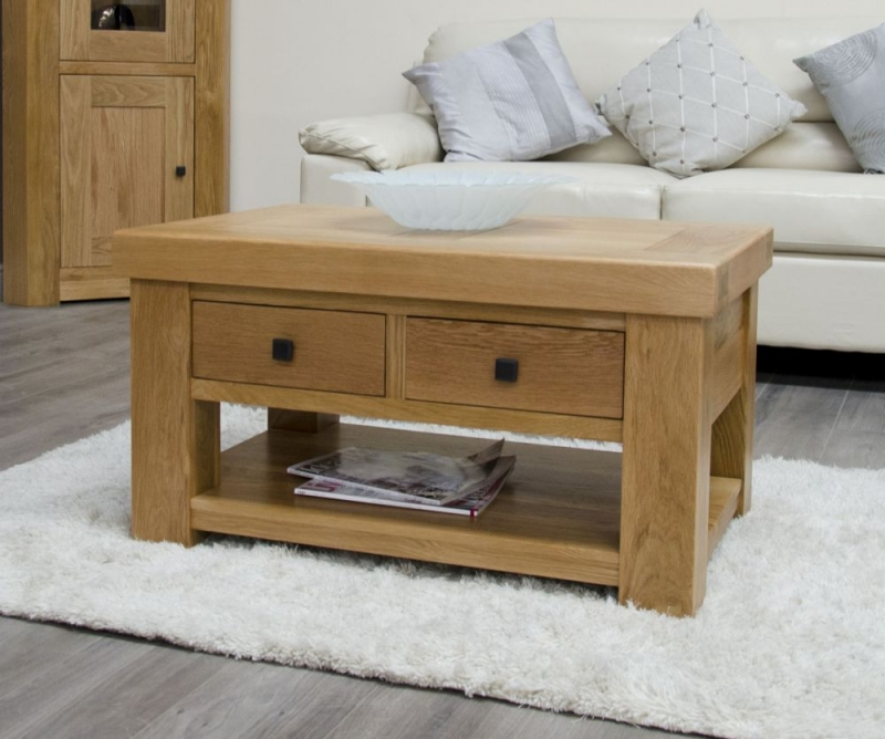 Homestyle GB Bordeaux Oak Storage Coffee Table