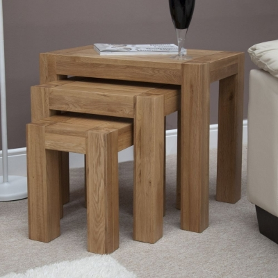 Clearance - Homestyle GB Trend Oak Nest of Tables - New - FSS9248