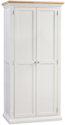 Homestyle GB Cotswold Oak and Painted 2 Door Wardrobe