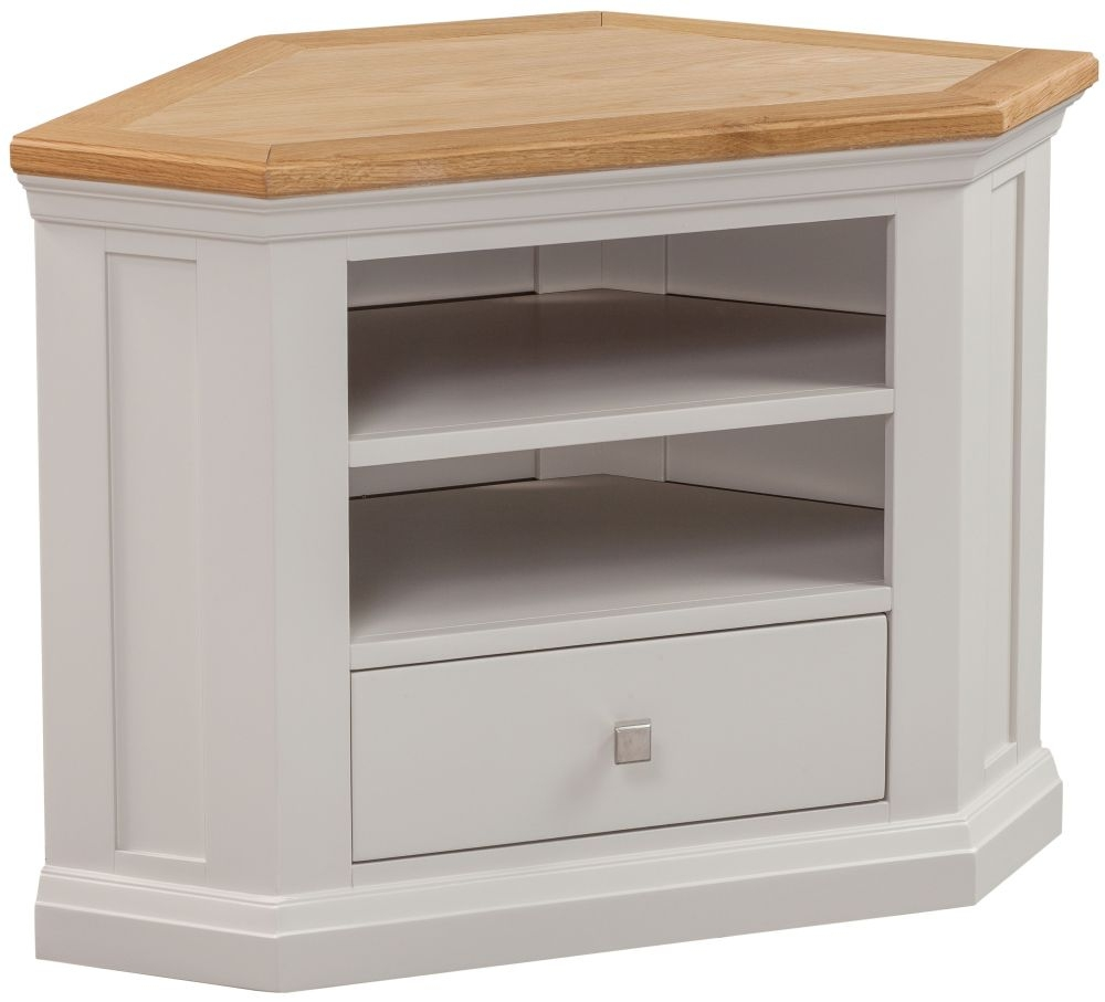 Homestyle GB Cotswold Painted Corner TV Unit