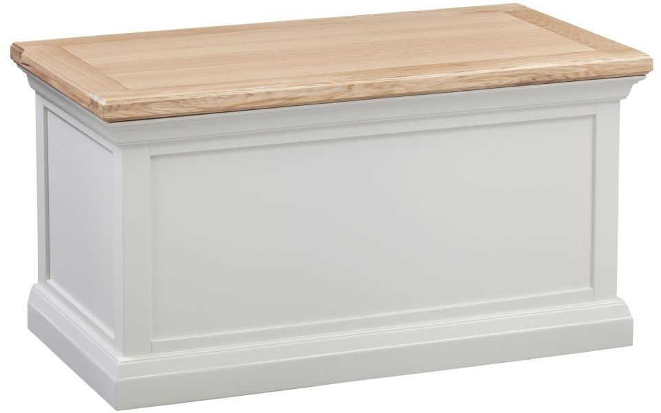Homestyle GB Cotswold Oak and Painted Blanket Box