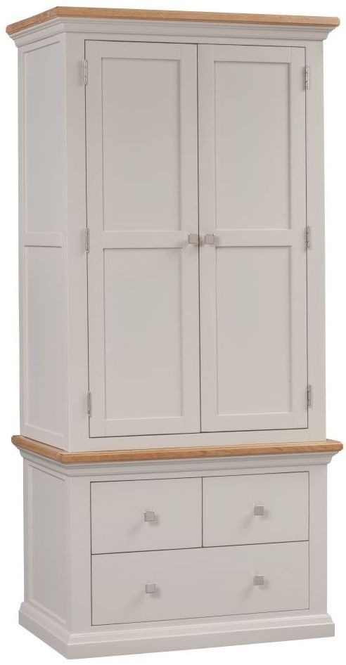 Homestyle GB Cotswold Painted 2 Door 3 Drawer Wardrobe