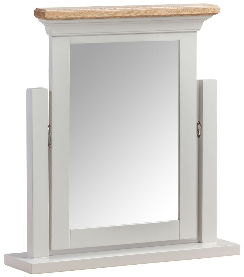 Homestyle GB Cotswold Oak and Painted Dressing Mirror