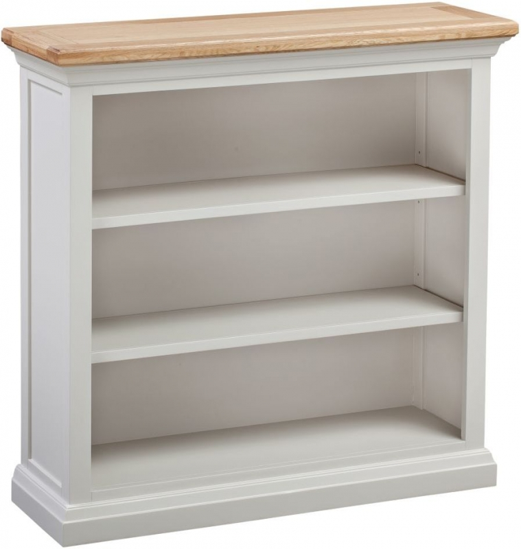 Homestyle GB Cotswold Oak and Painted Small Bookcase