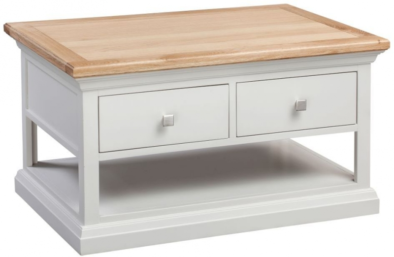 Homestyle GB Cotswold Oak and Painted Storage Coffee Table