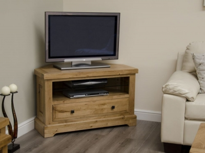 Homestyle GB Deluxe Oak Corner TV Unit