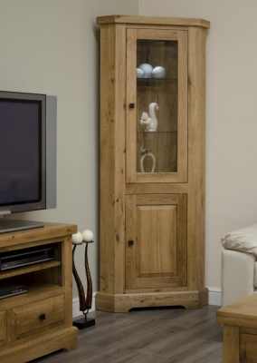 Homestyle GB Deluxe Oak Corner Display Unit