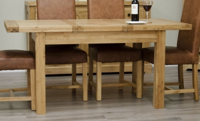 Homestyle GB Deluxe Oak Butterfly Extending Dining Table