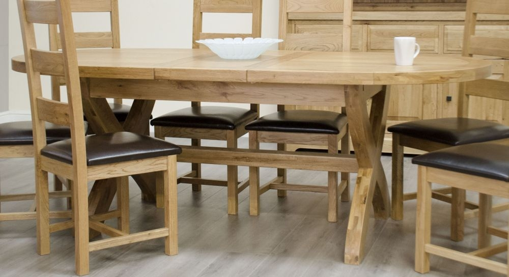 Homestyle GB Deluxe Oak Extending Dining Table