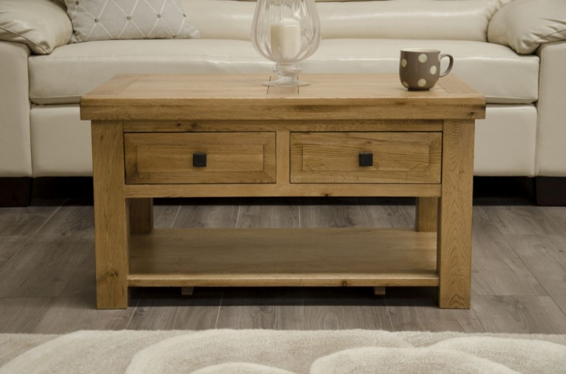 Homestyle GB Deluxe Oak Storage Coffee Table