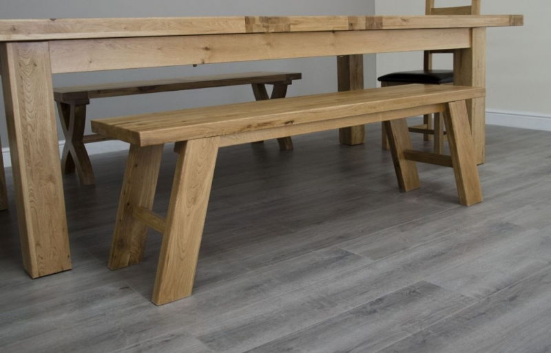 Homestyle GB Deluxe Oak Standard Dining Bench