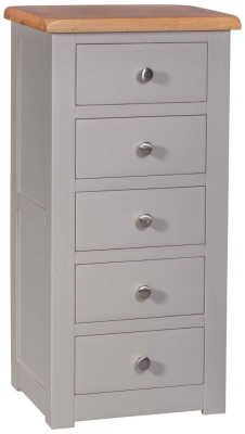 Homestyle GB Diamond Painted 5 Drawer Tallboy