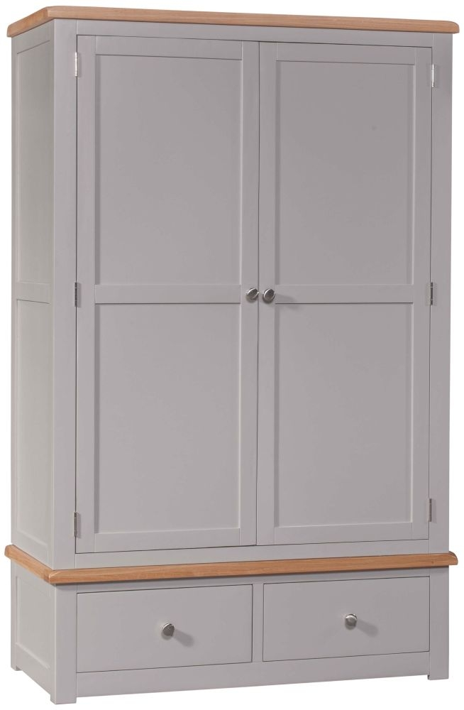 Homestyle GB Diamond Painted 2 Door 2 Drawer Wardrobe