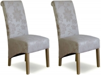 Homestyle GB Floral Cream Fabric Richmond Dining Chair (Pair)