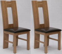 Homestyle GB High Back Bycast Leather Dining Chair (Pair)