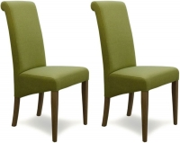 Homestyle GB Italia Lime Fabric Dining Chair (Pair)