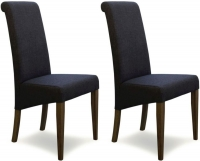 Homestyle GB Italia Stone Fabric Dining Chair (Pair)