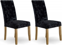 Homestyle GB Stockholm Deep Crushed Black Velvet Dining Chair (Pair)