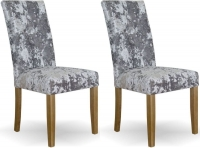 Homestyle GB Stockholm Deep Crushed Silver Velvet Dining Chair (Pair)