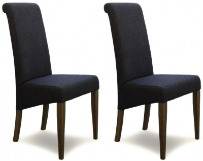 Homestyle GB Italia Fabric Dining Chair - Stone (Pair)