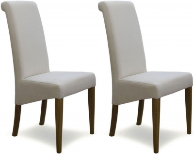 Homestyle GB Italia Dining Chair (Pair) - Ivory Fabric