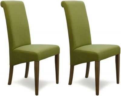 Homestyle GB Italia Dining Chair (Pair) - Lime Fabric