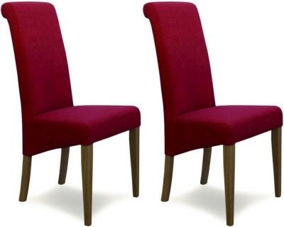 Homestyle GB Italia Dining Chair (Pair) - Lipstick Fabric