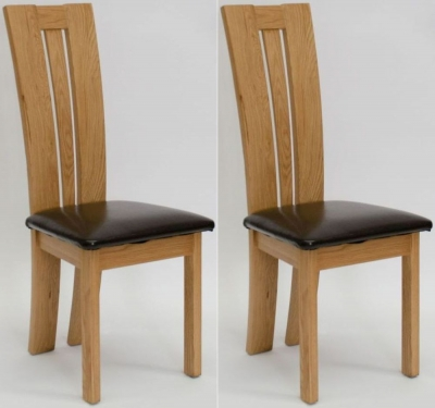 Homestyle GB Venezia Bycast Leather Dining Chair (Pair)