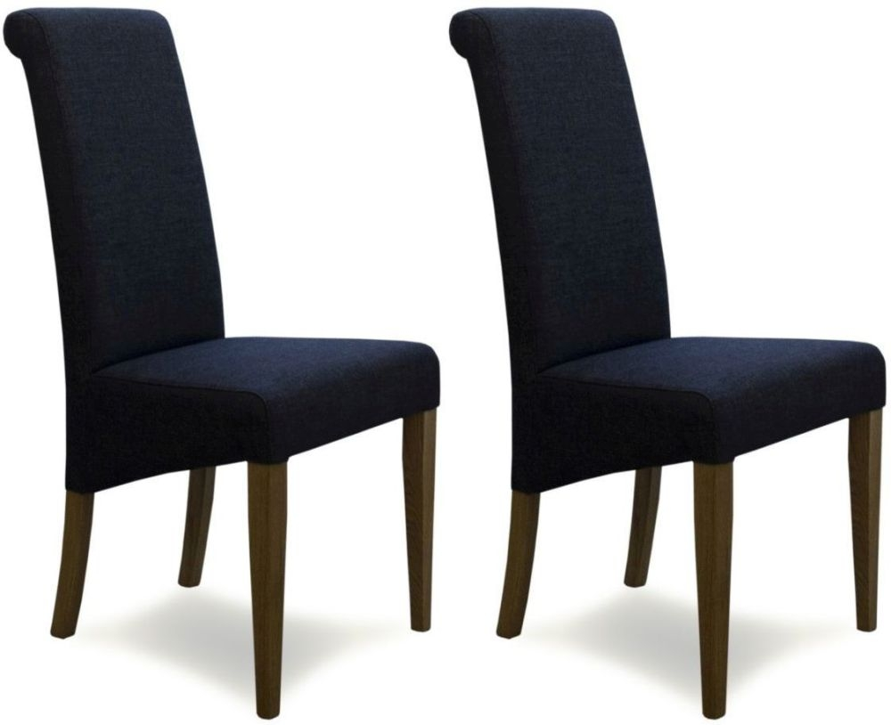 Buy Homestyle Gb Italia Charcoal Fabric Dining Chair Pair