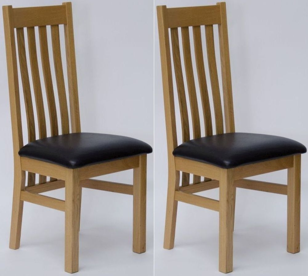 Buy Homestyle GB Perugia Oak Dining Chair With Brown Seat