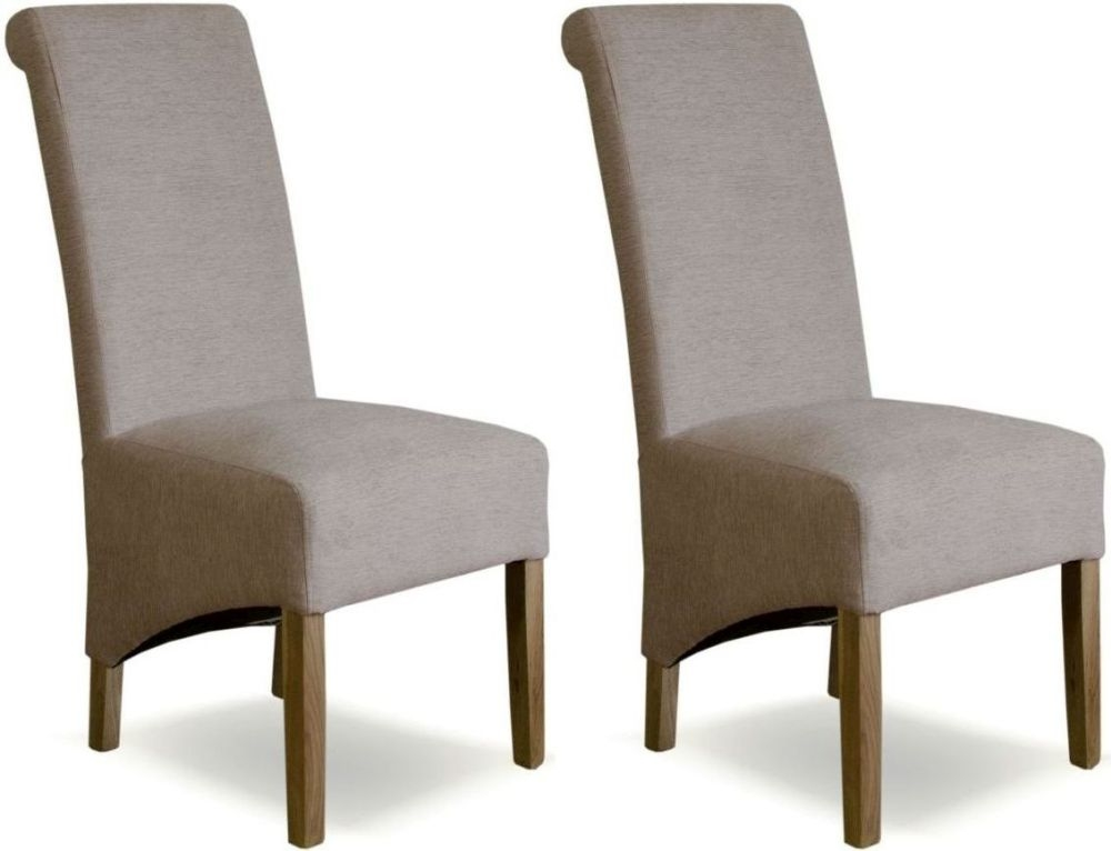 Homestyle GB Richmond Chenille Beige Fabric Dining Chair (Pair)