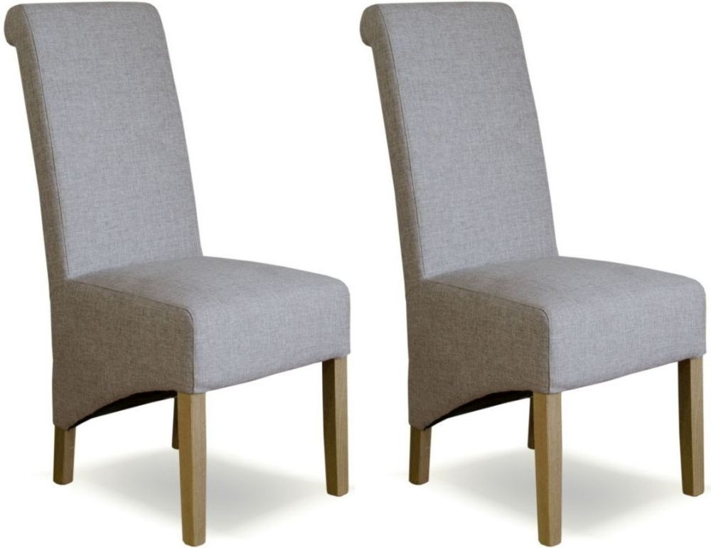Buy Homestyle Gb Richmond Tweed Beige Fabric Dining Chair Pair Online Cfs Uk