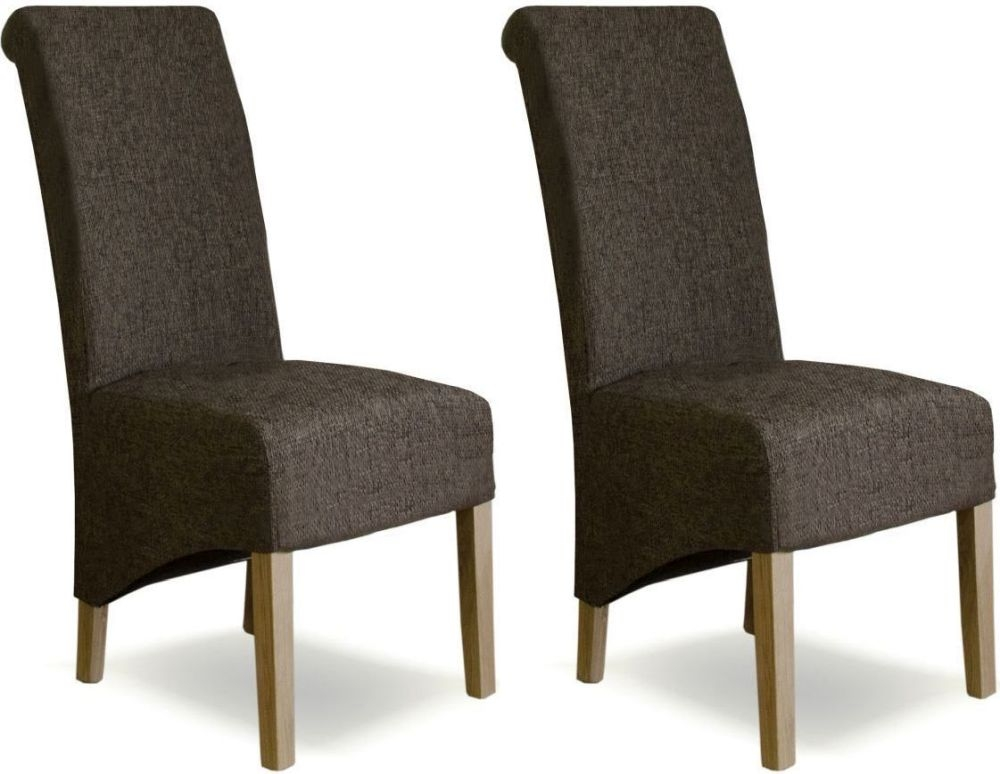 Homestyle GB Richmond Tweed Dark Fabric Dining Chair (Pair)