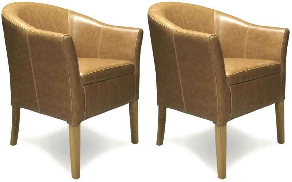 Homestyle GB Tan Leather Tub Chair | Homestyle GB Furniture