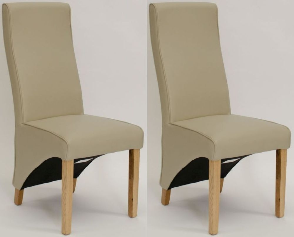 Homestyle GB Wave Bone Bonded Leather Dining Chair (Pair)