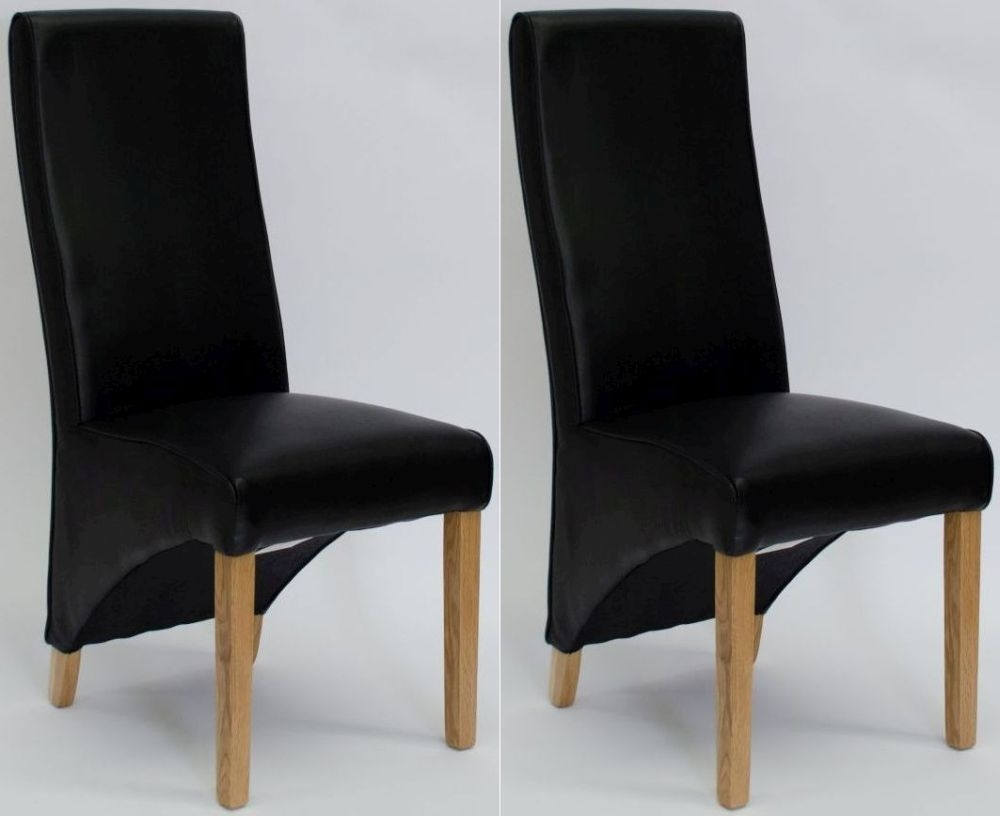 Buy Homestyle GB Wave Noir Bonded Leather Dining Chair