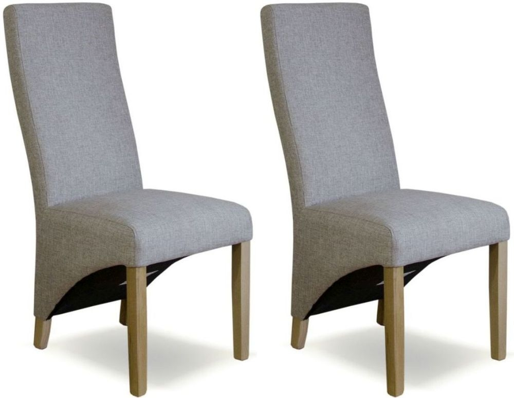 Homestyle GB Wave Tweed Beige Fabric Dining Chair (Pair)