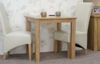 Homestyle GB Elegance Oak Square Dining Set with 2 Richmond Ivory Chairs - 77cm