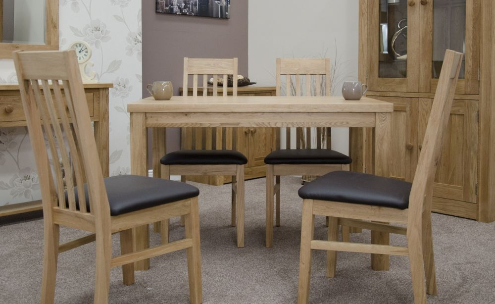 Homestyle GB Elegance Oak Dining Set and 4 Sophia Chairs