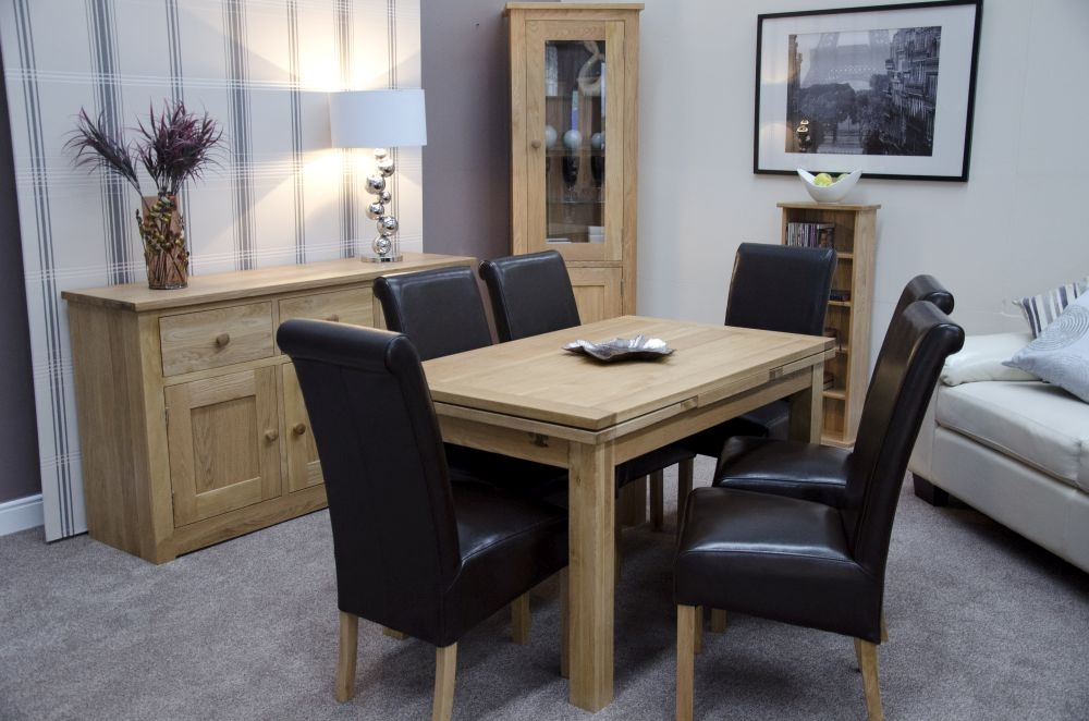 Homestyle GB Elegance Oak Rectangular Extending Dining Table